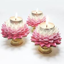 Candle Holders Decorated With Flowers Beautiful Thai Lotus Flower Handmade Candle Holder Gift