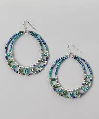 beaded hoop earrings craft ideas from lc pandahall com earrings