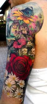 cool flowers designs for sleeve ideas sleeve tattoos