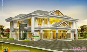 Luxurious Homes Interior Stunning Luxurious Sloping Roof House Kerala Home Design And Floor