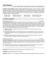 Program Manager Resumes Construction Operations Manager Sample Resume Broadcast Business