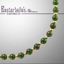 jade beads necklace images Gorgeous vintage green jade necklace with 14k gold filled beads jpg