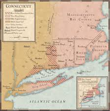 Connecticut State Map by Colonies In Connecticut In The 1640s National Geographic Society
