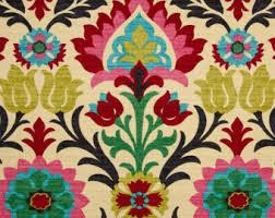 Custom Drapery Fabric Waverly Santa Maria Etsy