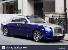 roll royce ghost blue silver rolls royce ghost stock photo royalty free image