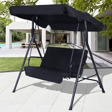 Swings For Patios With Canopy Costway 2 Person Outdoor Patio Swing Canopy Awning Yard Furniture
