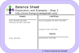 balance sheet explanation and examples from gnome to goliath