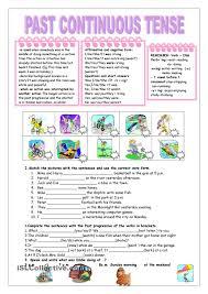past progressive worksheets worksheets