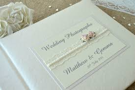 personalised photo albums personalised wedding photograph album lace design