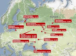 moscow map world guide to the russia world cup venues daily mail