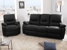 fauteuil et canapé canapé 3 places 2 relax manuel fauteuil cuir gaspard