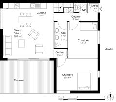 plan maison une chambre plan maison 2 chambres plan maison en bois chambres with