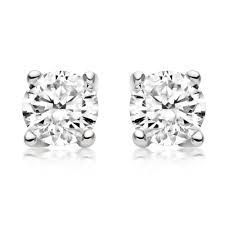 diamond stud earings 18ct white gold diamond stud earrings 0005229 beaverbrooks the