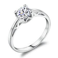 white gold promise rings sparkling 0 65ct h a swiss diamond prong setting scrub promise
