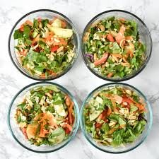 meal prep chopped thai salad with easy peanut dressing project