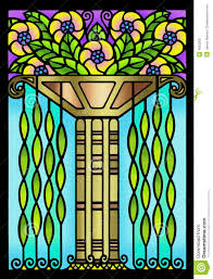 vintage art deco floral design royalty free stock photo image