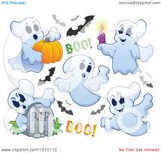 halloween bat clip art cartoon of halloween ghosts and bats royalty free vector clipart