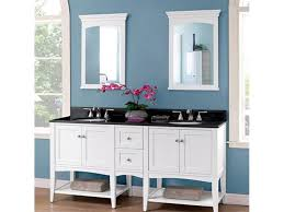 furniture white stain wooden vanity cabinet with double sink on