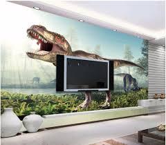 popular dinosaur wall mural buy cheap dinosaur wall mural lots 3d wallpaper custom photo the ancient dinosaur roared room painting picture 3d wall murals wallpaper for