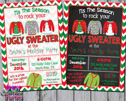 ugly sweater christmas party invitations which various color