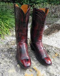lucchese s boots size 9 lucchese classics oxblood goat skin cowboy boots mens size 9 1 2