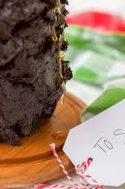 dark chocolate honey triple layer cake gluten free bless her