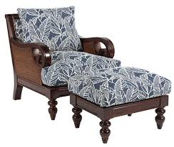 Chair And Ottoman Sets Sam Moore Tailynn Tropical Sofa With Exposed Wood And Scrolled