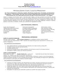 transportation resume examples supply chain resumes experienced