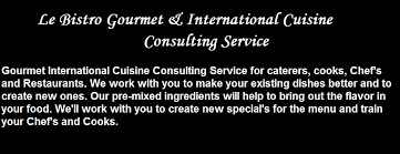 consulting cuisine le bistro gourmet and international cuisine consulting service