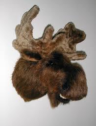 amazon com plush moose head