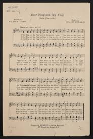 Blue White And Sun Flag World War I Sheet Music Popular Music Flags Library Of Congress