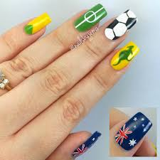 nails by jema my australia nails for the soccer