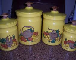 yellow canister sets kitchen canister sets etsy