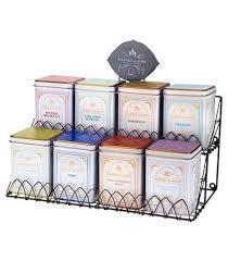 Harney & Sons Tea Display Rack For Eight Tea Tins