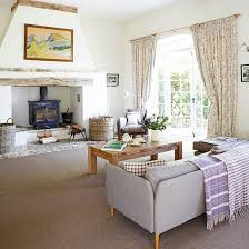 country homes and interiors uk modern oxfordshire country house living room fireplace living
