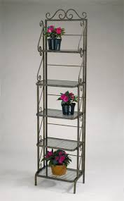 Bakers Rack With Wine Glass Holder Kitchen Contemporary Bakers Racks For Your Kitchen And Dining
