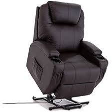 Chairs That Recline Amazon Com Merax Power Recliner And Lift Chair In Black Pu