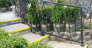 staircase railings decorative wrought iron orange county ca