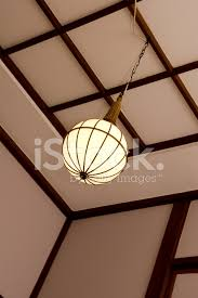 Japanese Ceiling Light Lamp In A Japanese Ceiling Stock Photos Freeimages Com
