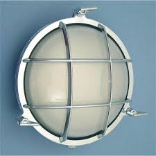 Wet Location Light Fixtures by Chrome Round Cage Light R 1c From Shiplights Com