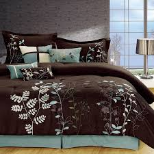 Queen Bedroom Comforter Sets Amazon Com Chic Home Vines 8 Piece Comforter Bedding Set Brown