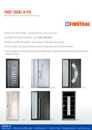 front doors in pvc and aluminium finstral pdf catalogues