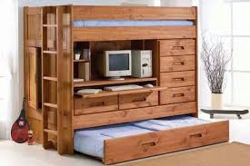 Bunk Bed Desk Wooden Bunk Bed With Desk Recous