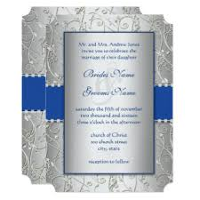 blue and silver wedding awesome wedding invitation royal blue and silver wedding