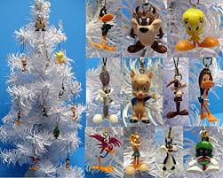 set of 11 looney tunes mini ornaments for mini tree featuring wile
