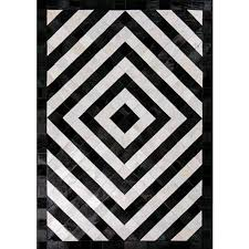 Cow Area Rug Contemporary Natural Cowhide Leather Cow Fur Patchwork Area Rug