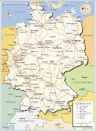 Karlsruhe Germany Map by Political Map Of Germany Nations Online Project