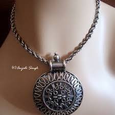 medallion pendant necklace images Buy round bold medallion pendant necklace sterling silver ethnic jpg