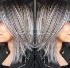transitioning to gray hair with lowlights professional hairstylist education trends hair coloring gray