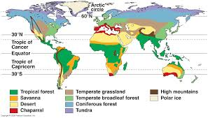 World Map Of Deserts Climate Zones And Biomes Lesson 0111 Tqa Explorer